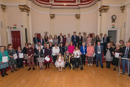 Some of the winners at the Bassetlaw District Council Achievers' Awards this year.