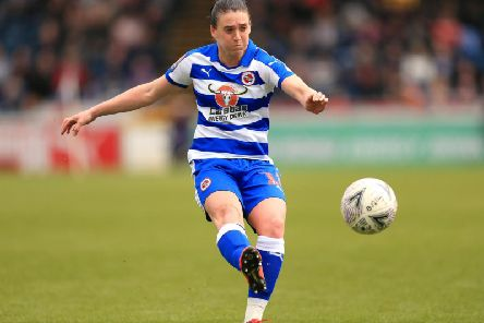 Jade Moore in action for Reading.