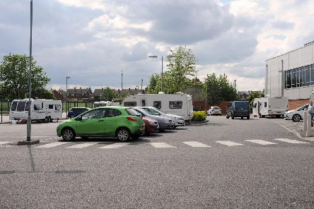 Travellers are parked on Valley Road, Worksop