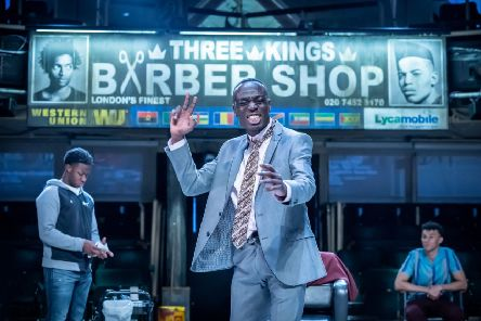 Barber Shop Chronicles. Photo by Mark Brenner.