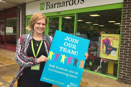 Kayla Smith of Barnardo's highlights the charity's need for support from volunteers