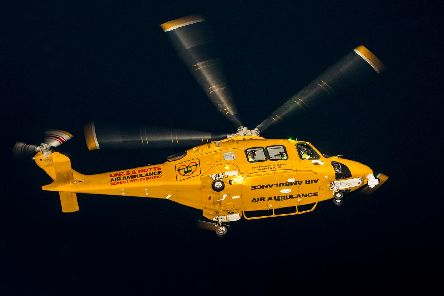 The Ambucopter at night