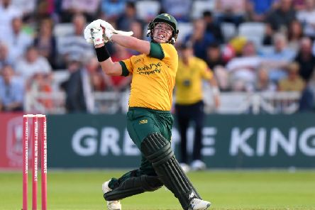 Tom Moores in action for Outlaws against Yorkshire Vikings.