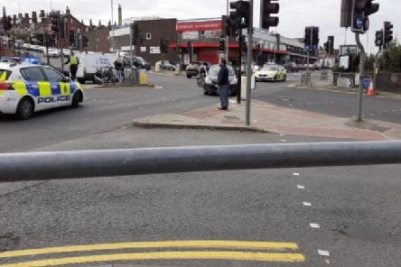 The crash happened at a busy Harehills junction (Photo: Adam).