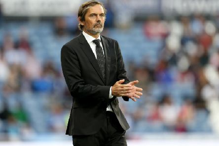 NEW ERA: Derby County boss Phillip Cocu during his first competitive game in charge against Huddersfield Town. Photo by Lewis Storey/Getty Images.