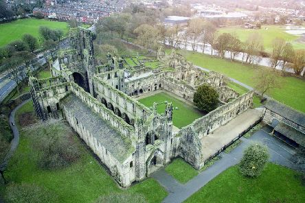 Kirkstall Abbey taken from the air. PIC: Patrick O Frani