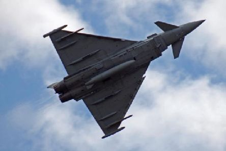 The Typhoons werre scrambled from RAF Lossiemouth