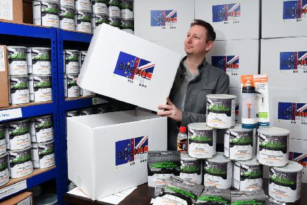 Businessman James Blake has been selling hundreds of 'Brexit boxes' as people increasingly start stockpiling over fears the UK will leave without a deal.