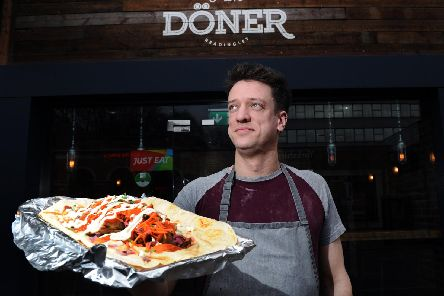 Paul Baron from I Am Doner in Headingley, which has just been shortlisted for Best Regional Takeaway in the British Kebab Awards.