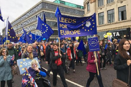 A previous Leeds for Europe march.