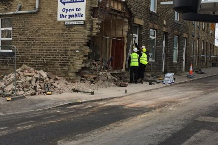 A man is receiving medical treatment for shock after a car ploughed into his home in the early hours of this morning.