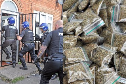 Police raid flats in St Wilfrids Avenue, Harehills, in September 2018 as part of an operation to tackle the dealing of spice in Leeds.