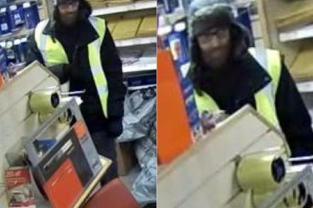The man demanded cash from the till from the post office in Lower Wortley.