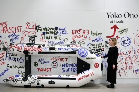Add Color Painting (Refugee Boat), one of the artworks on display in the exhibition Yoko Ono at Leeds. PIC: Jonathan Gawthorpe