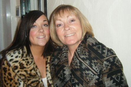 Charlene Graham with her mother Wendy who was treated before her death at Sue Ryder Wheatfields Hospice. Charlene is now backing a Mother's Day fundraising campaign.
