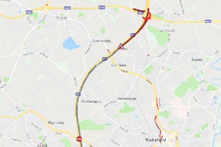 Map shows the closure. PIC: AA