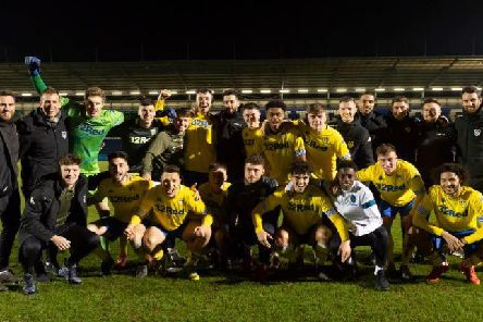 Leeds United's Under-23s celebrate title victory at Colchester.