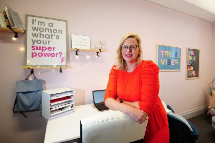 Catherine Asta Labbett, founder of Girl Tribe Gang, pictured at Wizu Workspace in Leeds. Picture by Simon Hulme