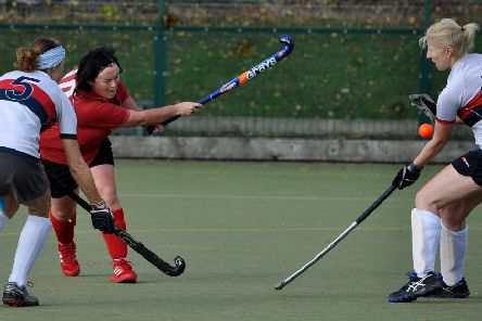 ACTION SHOT: Rodney Tordoff's shot of a hockey match scored maximum points in a Pudsey Camera Club competition.