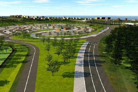 A CGI image of the planned Stourton Park and Ride. Picture: Leeds City Council.