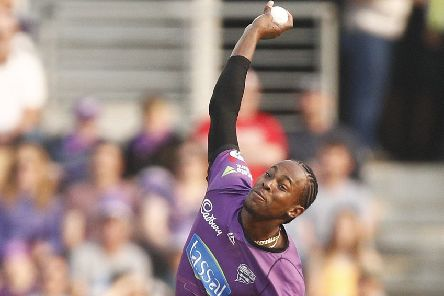 IN THE FRAME: Jofra Archer, in Big Bash League action for the Hobart Hurricanes earlier this year. Picture: Daniel Pockett/Getty Images.