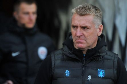 Aston Villa boss Dean Smith.