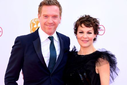 CELEBRITY POWER COUPLE: 'Clever pairing - Damian Lewis in midnight blue and Helen McCrory in black lace at the Virgin Media BAFTA TV awards, held at the Royal Festival Hall in London. Ian West/PA Wire