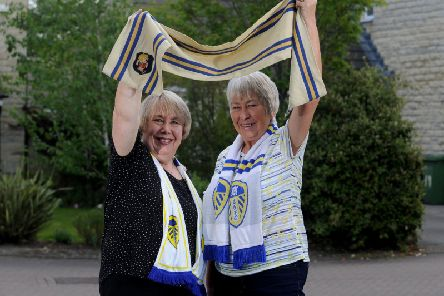 Sisters and dedicated Leeds United fans Diana Roberts and Carolyn Pratt.