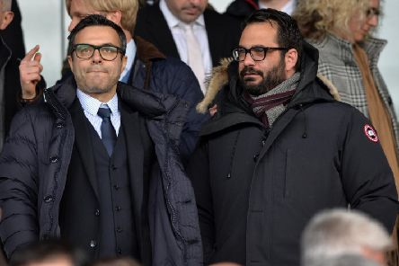 Leeds United owner Andrea Radrizzani (L) and sporting director Victor Orta (R).