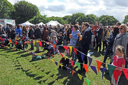 The Music on T'Pitch event, part of this year's Meanwood Festival.
