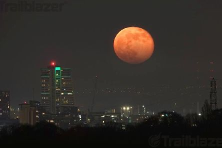 April's Pink Moon over Leeds. Picture: Anthony Newby