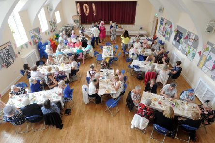 Meanwood Women's Institute members celebrate their 100th anniversary on 22 June 2019 with a vintage tea party at Holy Trinity Community Hall.  Picture Tony Johnson.