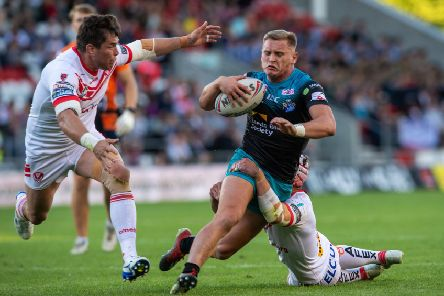 Brad Dwyer in action against St Helens. PIC: Bruce Rollinson
