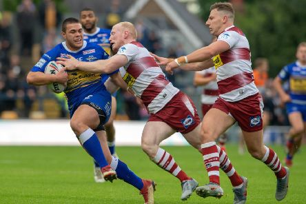 Tui Lolohea in action against Wigan two weeks ago in what could be his final game for Leeds. Picture Bruce Rollinson
