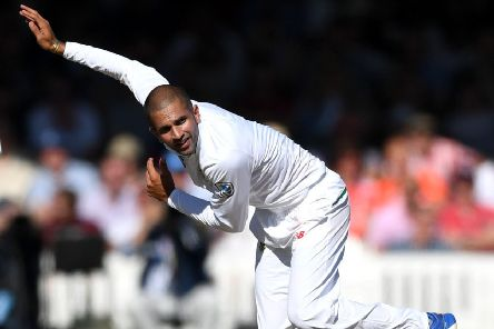 HELPING HAND: South Africa's Keshav Maharaj, seen in action against England at Lord's in the summer of 2017, has signed a temporary deal with Yorkshire. Picture: Gareth Copley/Getty Images