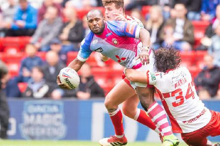Salford Red Devils' Robert Lui in action against Hull KR at Magic Weekend. (SWPix)