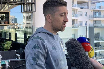 READY FOR BATTLE: Pablo Hernandez in Australia.