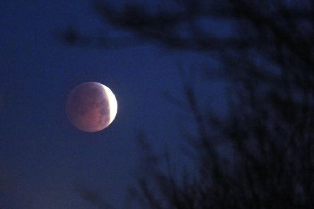 Lunar eclipse over Leeds in 2010.