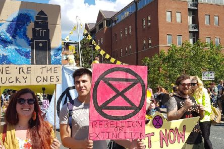 The Extinction Rebellion protesters will march to Briggate and hold a mass die-in'.