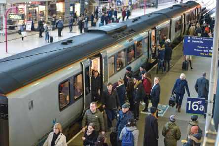 Commuters at Leeds Railway Station have criticised a potential 3% price hike on rail fares. SWNS.
