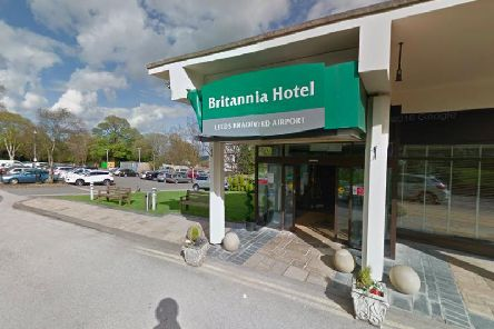 Two masked men robbed a Leeds hotel with an axe during wedding celebrations. Photo: Google.