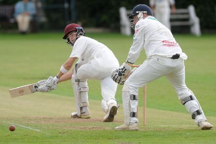 Brad Schmulian, of Woodlands, top scored with 54 in the win' at Pudsey St Lawrence. PIC: Steve Riding