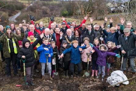 Political leaders including Dan Jarvis joined local children for the planting of the first tree as part of the Northern Forest project.