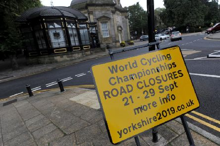 The signs giving advance warning of the road closures have now gone up all over town.