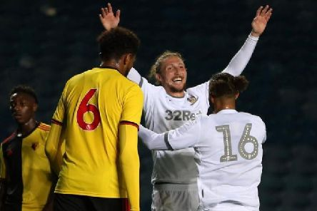 Leeds United defender Luke Ayling scored on his comeback on Monday evening. (Credit: LUFC)