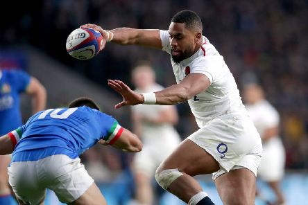 Powerhouse: England have benefited from the likes of winger Fiji-born winger Joe Cokanasiga, above, joining their ranks.(Picture: Adam Davy/PA)