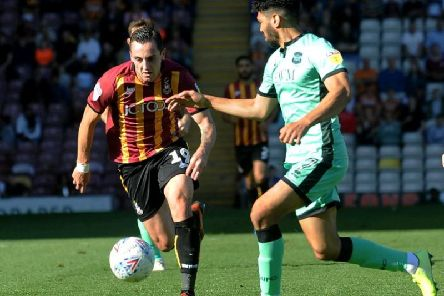 Bradford City's Dylan Connolly in action against Carlisle United. Picture: Simon Hulme