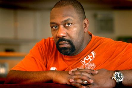 Comedian and actor Lenny Henry in rehearsals for Othello at West Yorkshire Playhouse back in 2009.