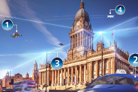 O2 has released a hypothetical futuristic visual representation of how 5G could shape Leeds over the next 10 to 15 years