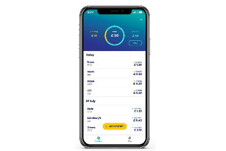 Snap receipts with the app and watch your money build up